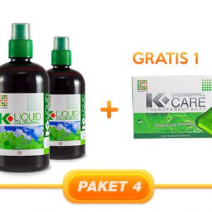 JUAL PAKET CHLOROPYLL 3PCS + 1 TRANSPARANT SOAP